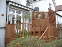 Hardwood decking used to create a lovely sun terrace