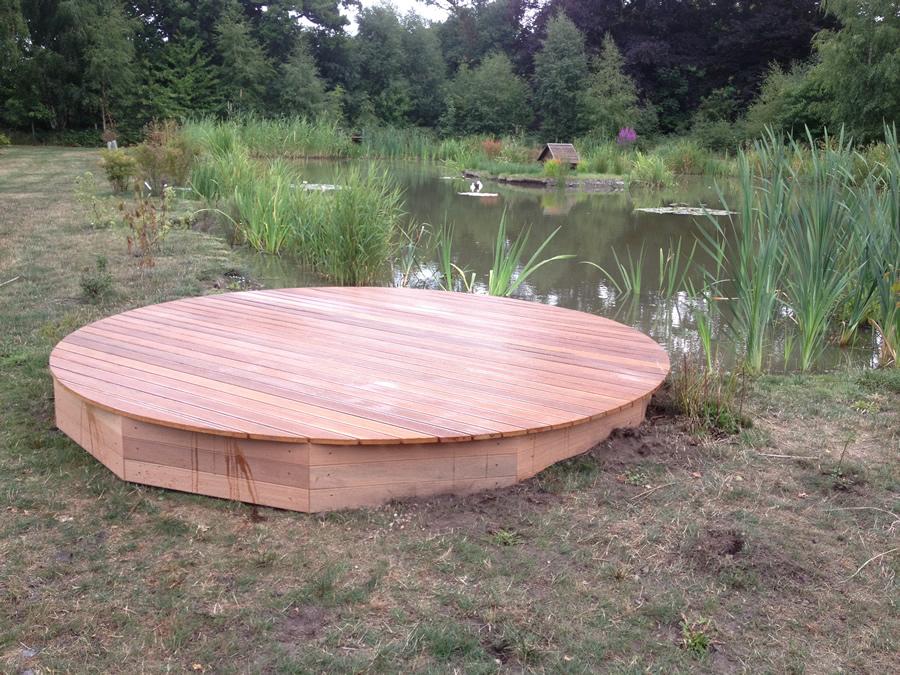 Circular Hardwood Deck